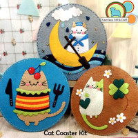 Crazy Cat Coaster Felt Craft Kit- Imported