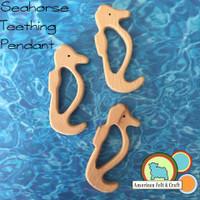 Seahorse Wood Teething Pendant