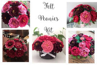DIY Felt Peonies Kit