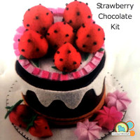 Mini Cake Box Kit- Chocolate Strawberry Cake