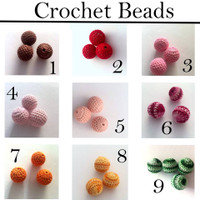 Crochet Teething Beads- 20 colors