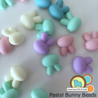 Pastel Bunny  Silicone Teething Beads