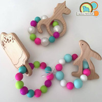 Wood Rabbit Teether
