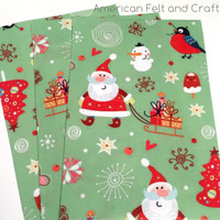 Merry and Bright felt Christmas print