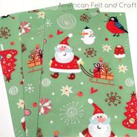 Merry and Bright felt Christmas print