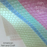 Faux Leather Fish Scales - felt backed