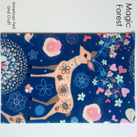 Magic Forest- Deer print felt