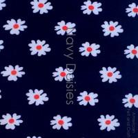 Navy  Daisy - felt print