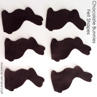 Chocolate Bunny- felt cut out shapes