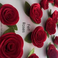 Felt Roses- 4 pack