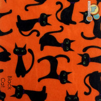 Black Cat - Printed felt