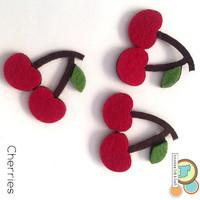 Cherry fruit felt shapes