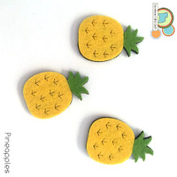 Pineapple fruit felt shapes