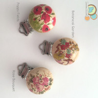 Floral Collection - Pacifier, Suspender, Teether clip