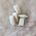 Carrier Beads - Czech Glass - White