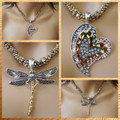 Dragonfly or Heart Pendant Only
