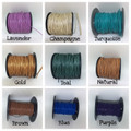 Leather 1mm Round.  Sold by yard.