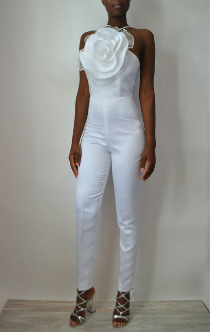 Chloe Bridal Jumpsuit Front Look
