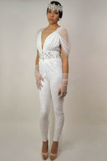 Naomi Sequin Bridal Catsuit