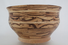 # 440 Exotic Black Limba & Zebrawood Segmented Wood Bowl