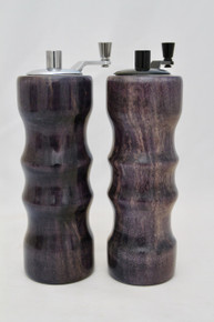 "6"" Salt & Peppermills Stabilized Spalted Hackberry Dyed Violet # 1157"