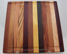 Exotic Wood Cutting Board with Groove # 1144