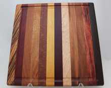 Exotic Wood Cutting Board with Groove # 1139