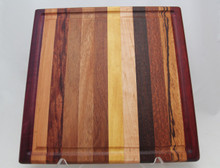 Exotic Wood Cutting Board with Groove # 1140