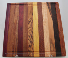 Exotic Wood Cutting Board with Groove # 1042