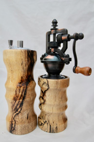 "6"" Salt & Peppermills Spalted Tamarind # 1209"