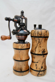 "6"" Salt & Peppermills Ebony & Spalted Tamarind # 1210"