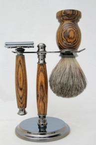 Brush & Razor & Stand Bocote gm