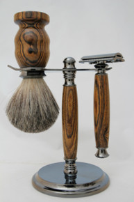 Brush & Razor & Stand Bocote gm 1