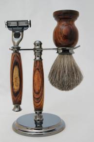 Brush & Razor & Stand Cocobolo