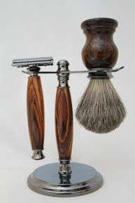 Brush &Razor & Stand Cocobolo gm