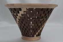 Open Segmented Walut & Birch Vessel # 582