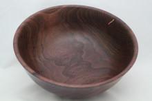 Walnut Bowl with Copper Inlay # 670