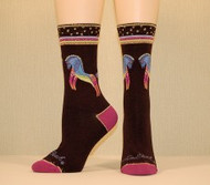 Women's Socks By K. Bell - Laurel Burch Rainbow Horse