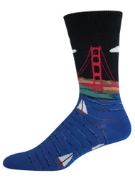 Men's Golden Gate Bridge - Men's Novelty Socks By Socksmith