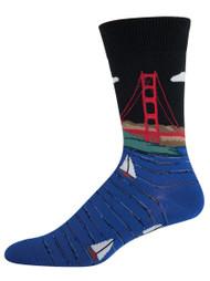Men's Golden Gate Bridge - Men's Novelty Socks By Socksmith