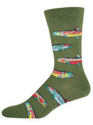 Men's Trout - Men's Novelty Socks By Socksmith