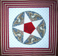 Five Pointed Star Circle 9""