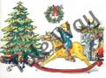 Christmas Rocking Horse (8x10)