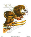 Lion Skiing (5x7)