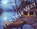 Camp Fire Canoe (8x10)