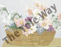 Daisy Flower Basket 2 (8x10)