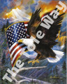 Eagle with Flag (8x10)