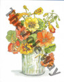 Yellow and Orange Flowers in a Vase (8x10)