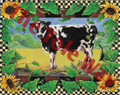 Checkerboard Cow (8x10)