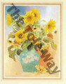 Sunflowers in Blue Pitcher (8x10)